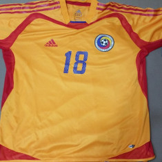 Tricou Fotbal cu Plasa Adidas Echipa Nationala a Romaniei Marime XL - Set echipament fotbal