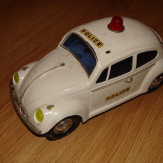 Jucarie de colectie - Jucarie, masinuta plastic VW broscuta (Lyra, Made in Greece)