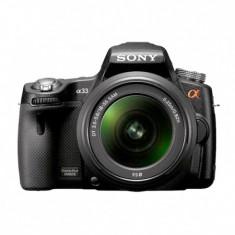 Sony Alpha A33 + obiectiv SAM18-55 SLT ( DSLR ) - DSLR Sony, Kit (cu obiectiv), Peste 16 Mpx, Full HD