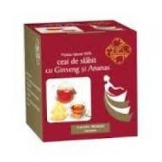 Produs de Slabit - Ceai de Slabit cu Ginseng si Ananas 20dz Bis Nis
