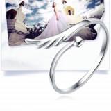 """Inel argint - Inel trendy argint 925 """"Aripa"""" """"Wing"""" + cutie cadou; marime reglabila"""