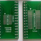 Adaptor SOP SOIC SO28 pe o parte si TSSOP SSOP28 pe cealalta parte la DIP28