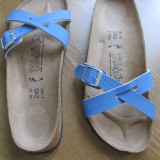 Papuci dama - Papuci NOI, slapi marca Birkenstock masura 38, slapi, papuci ortopedici
