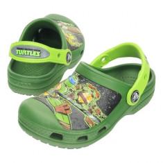 Saboti Crocs CC TMNT Clog (CRC15607) - Papuci copii Crocs, Marime: 21.5, 23.5, 25.5, Culoare: Verde