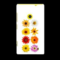 Husa Nokia Lumia 520 Slim Model Flowers - Husa Telefon