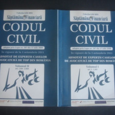 Carte juridica - CODUL CIVIL - IN VIGOARE DE LA 1 OCTOMBRIE 2011 * 2 volume
