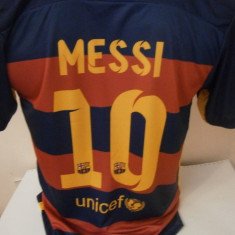 Set echipament fotbal - ECHIPAMENTE FOTBAL COPII FC BARCELONA MESSI 2015-2016 10-15ani (140, 152, 164, 176)