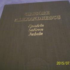G. alexandrescu- episteln, satiren, fabeln, lb germana-1957- 1100 ex. - Carte Fabule