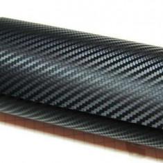 Folie carbon 3D neagra cu tehnologie de eliminare a bulelor de aer 30m - Folie Auto