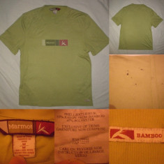 Tricou MARMOT BAMBOO M alergare fitnes aerobic munte drumetie tura outdoor - Tricou barbati, M, Din imagine