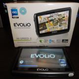 GPS Evolio Hi-Speed 5 IGO, 5 inch, Toata Europa, Comanda vocala: 1, Redare audio: 1, Sugestii multiple de cai: 1