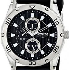 Armitron Men's 20 4956BKSVBK Silver-Tone   100% original, import SUA, 10 zile lucratoare a12107 - Ceas barbatesc Armitron, Quartz