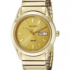 Seiko Men's SNE058 Gold Tone | 100% original, import SUA, 10 zile lucratoare a12107 - Ceas barbatesc Seiko, Quartz