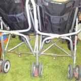 Carucior Gemeni, 1-3 ani, Pliabil, Negru - Carucior sport gemeni