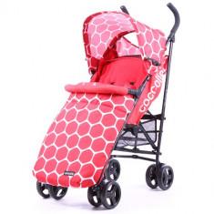 Carucior Sport Favo Plus Rosu - Carucior copii 2 in 1 Coccolle