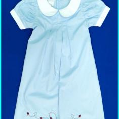 DEOSEBITA_ Rochie de vara, bumbac cu broderie, KANZ _ fetite | 3 - 4 ani | 104, Culoare: Bleu
