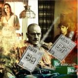 Set Pandantiv / Colier / Lantisor - Film BREAKING BAD - CHEMICAL SIMBOL - 2BUC - Set bijuterii argint
