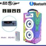 Boxa Bluetooth Retro din Lemn 10W cu Telecomanda BBQ602