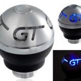 Maner nuca schimbator viteza GT blue LED albastru masina tunning auto +CADOU!