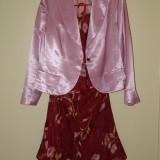 Costum dama 3 piese, Marime: 48, Culoare: Grena
