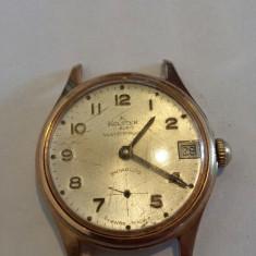 CEAS DE DAMA ELVETIAN KOLSTER - Ceas dama, Mecanic-Manual, Placat cu aur, Calendar perpetuu, 1970 - 1999
