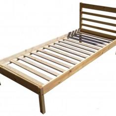 Pat dormitor, Simplu - PAT SIMPLU PENTRU O PERSOANA, DIN LEMN MASIV (MOLID) 200X90 CM