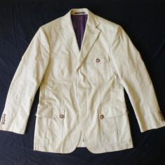 Sacou superb Desiree Dal 1955, Exclusive Fabric; marime 50, vezi dimensiuni - Sacou barbati, Culoare: Crem
