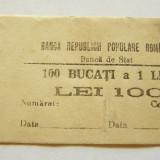 V907 BANDEROLA BANCNOTE 1 LEU 1952 RPR BANCA DE STAT