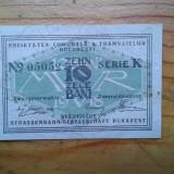 Romania - 10 bani 1918 - bilet de tramvai