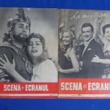 REVISTA SCENA SI ECRANUL * 2 NUMERE ( 1 SI 12 ) / 1957