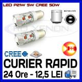 BEC AUTO LED LEDURI P21W 5W BAY15D DUBLU FILAMENT - 50W CREE STOP POZITIE FRANA - Led auto ZDM, Universal
