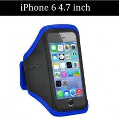 Armband husa brat telefon pt alergat pentru iPhone 6 4.7 inch husa mana ALBASTRU, Neopren