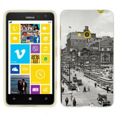 Husa Nokia Lumia 625 Silicon Gel Tpu Model Vintage City - Husa Telefon