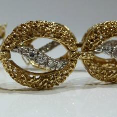 Bratara din aur, 14 carate - Bratara aur 14k cu Diamante