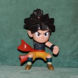 Jucarie figurina din cauciuc tare, personaj Anime, baiat par negru, luptator, 11cm, Dragon Ball Z, Son Goku, colectie - Figurina Povesti