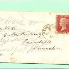 ST-102=ANGLIA-MAREA BRITANIE 1866-Scrisoare circulata dela Herfforth la Barnstaple in octombrie 1866