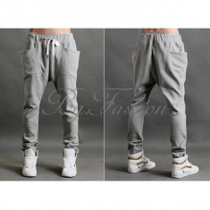 Pantaloni barbati, S, Lungi, Bumbac - Pantaloni de trening Baggy Harem Hip-Hop Dance Sport pt masura S