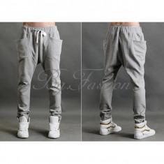 Pantaloni de trening Baggy Harem Hip-Hop Dance Sport pt masura S - Pantaloni barbati, Marime: S, Culoare: Gri, S, Lungi, Bumbac