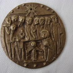 Basorelief religios pe bronz (15) - Metal/Fonta, Ornamentale