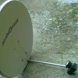 Antena de satelit Kathrein Euroline de 84 cm cu lnb dublu