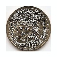 Monede Romania, An: 2011 - Romania 50 bani 2011 (comemorativa: Mircea cel Batran) KM-260 UNC !!!