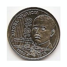 Monede Romania, An: 2010 - Romania 50 bani 2010 (comemorativa: Aurel Vlaicu 100 de ani) KM-259 UNC !!!