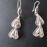 Cercei din argint filigran - Cercei argint
