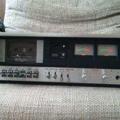 Casetofon deck vintage Dual C 809, vu-metre pe ace. - Deck audio