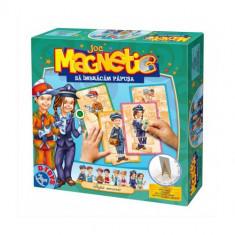 Joc Magnetic Imbraca Papusa dupa Meserii - Jocuri Logica si inteligenta D-Toys