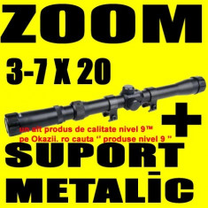 LUNETA Metalica ZOOM 3-7 X 20