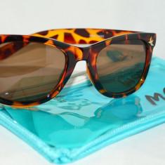 Ochelari de soare, Femei, Maro, Wayfarer, Plastic, Protectie UV 100% - Ochelari soare leopard animal print MOA