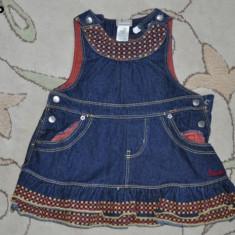 Haine Copii 1 - 3 ani, Sarafane, Fete - Sarafan de blugi, marca Roots, fetite 12-18 luni