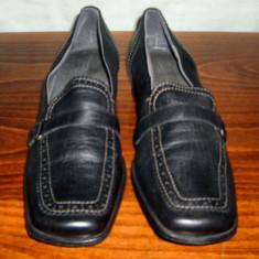 Pantof dama Made in Italia din piele Zanon & Zago marimea 41, Culoare: Negru, Piele naturala