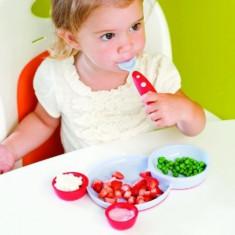 BOON Groovy & Modware bol si farfurie + tacamuri + 2 recipiente sosuri vesela - Vesela bebelusi, 0-4 ani